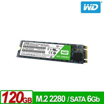 WD M.2 2280 120GB SATA固态硬盘(绿标)(WDS120G2G0B)