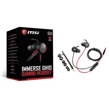 微星MSI Immerse GH10耳塞式电竞耳机(GH10 Headset)