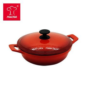摩堤 24cm 铸铁妈妈锅 渐层红(SE-02295-03)