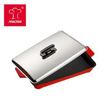 摩堤 A4 铸铁平烤盘 红(SE-02032-BH1)