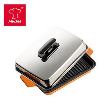 摩堤 A5 铸铁肋烤盘 橘(SE-02218-A05)