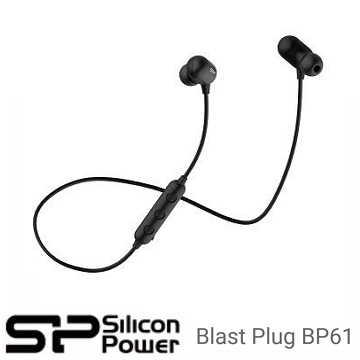 广颖 Silicon-Power Blast Plug BP61 运动型V4.1蓝芽耳机 - 黑色(SP3MWASYBP61BT0K)