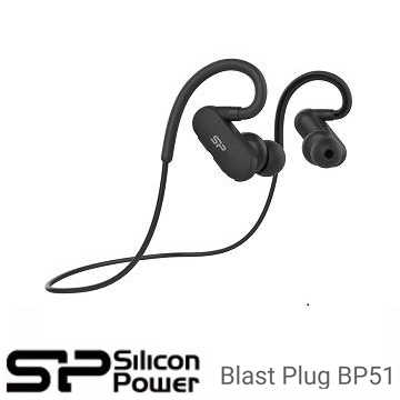 广颖 Silicon-Power Blast Plug BP51 运动型V4.1蓝芽耳机 - 黑色(SP3MWASYBP51BT0K)