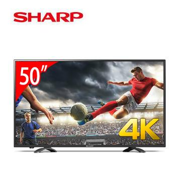 SHARP 50型4k智慧聯網顯示器+視訊盒