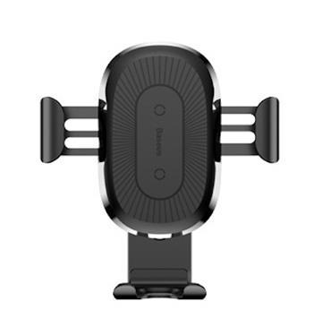 Baseus 无线充电重力车载手机支架(WXYL-01 黑色)