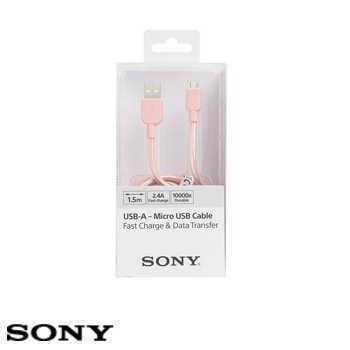 SONY USB 1.5M 原廠充電傳輸線 - 粉紅(CP-ABP150/PC)