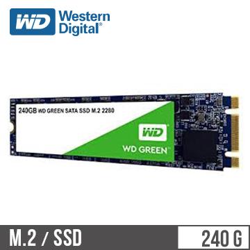 WD M.2 2280 240GB SATA固态硬盘(绿标)(WDS240G2G0B)