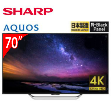 SHARP 70型4K日本原装智慧连网电视(4T-C70AM1T)