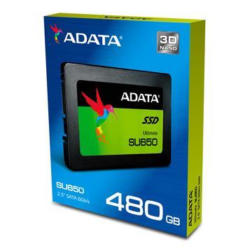 【480G】威刚 ADATA 2.5吋 3D NAND固态硬盘(ASU650SS-480GT-C)
