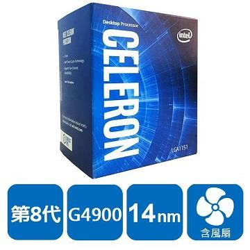 英特尔 Intel 第八代 CPU Celeron G4900 盒装处理器(BX80684G4900)