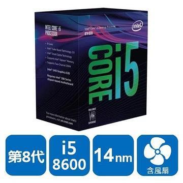 英特尔 Intel 第八代 CPU Core i5-8600 盒装处理器(BX80684I58600)