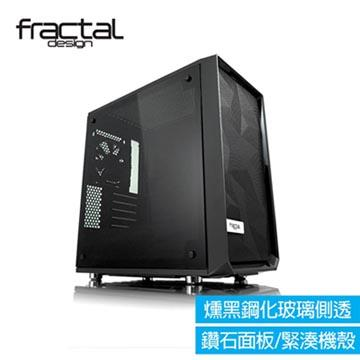 【Fractal Design】 Meshify C Mini - Dark TG 燻黑鋼化玻璃透側電腦機殼(FDMESHCMiniBKOTGD)