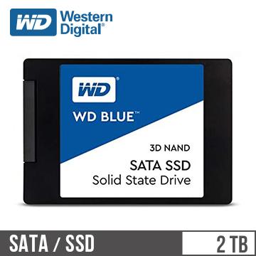 """WD SSD Blue系列-2.5""""2TB固态硬盘(3D TLC)(WDS200T2B0A)"""