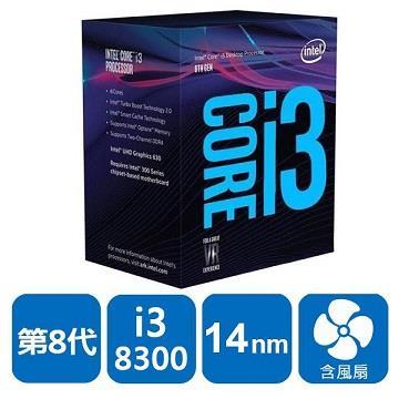 Intel 盒装CPU Core i3-8300(BX80684I38300)