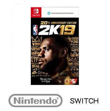 【20週年紀念版】任天堂 Nintendo NBA 2K19 - 中英文版(1030000000028)