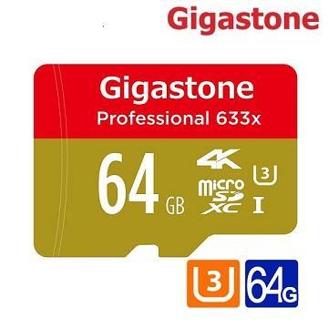 【U3 /  64G】Gigastone MicroSD 记忆卡-含转卡(MicroSDXC UHS-I U3 64G)