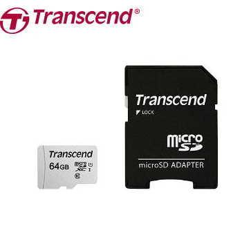 【U1 /  64G】創見 Transcend MicroSDXC 記憶卡-含轉卡