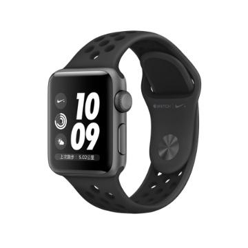 【GPS版 38mm】Apple Watch S3 Nike+/太空灰鋁/黑底黑洞錶帶