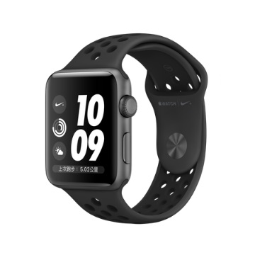 【GPS版 42mm】Apple Watch S3 Nike+/太空灰鋁/黑底黑洞錶帶(MTF42TA/A)