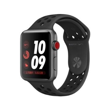 【LTE版 42mm】Apple Watch S3 Nike+/太空灰鋁/黑底黑洞錶帶
