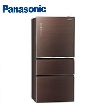 Panasonic 500公升玻璃三门变频冰箱(NR-C500NHGS-T(翡翠棕))