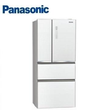 Panasonic 500公升玻璃四门变频冰箱(NR-D500NHGS-W(翡翠白))