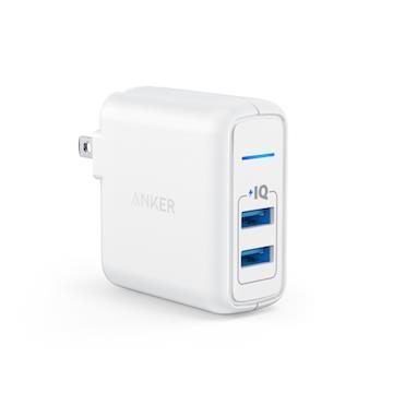 Anker PowerPort 2PORT 2.4A充電座-白(A2023J21)