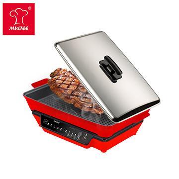 摩堤 经典IH铸铁烧烤组(肋) 800W 经典红(800W红+A4肋红)