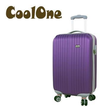 CoolOne 紫色之戀20吋條紋旅行箱(紫色)(TK-SP194-4)