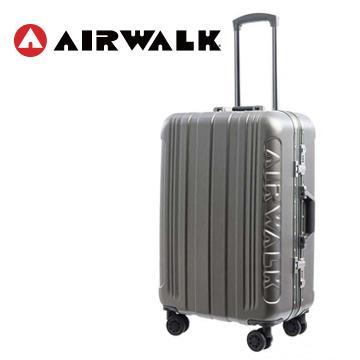 AIRWALK 金屬森林24吋鋁框行李箱(碳鑽灰)(TK-SP7500-24灰)