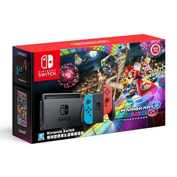 「限定組合包005」任天堂 Nintendo Switch 瑪利歐賽車8豪華版 主機同捆組()