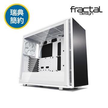 瑞典Fractal Design S2 TG電腦機殼-白(FDDEF-S2-WT-TGC)