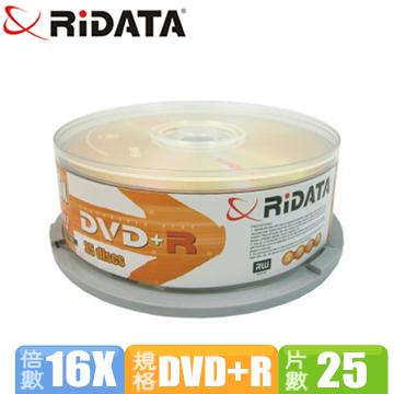RIDATA 16X DVD+R/25布丁桶裝(RID16+R25)