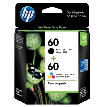 HP60號黑/彩組合包裝墨水匣