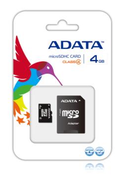 【4G】威剛 Micro SD C4記憶卡(AD4GTFC4)