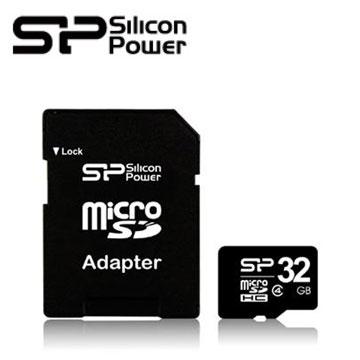【32G】廣穎Micro SD C4記憶卡(含轉卡)(Micro SD32G C4)