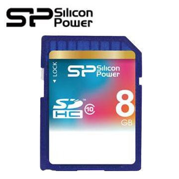【8G】廣穎SDHC C10記憶卡(SP008GBSDH010V10)