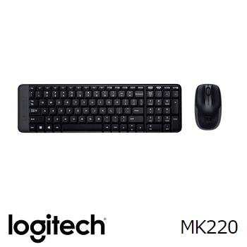羅技Logitech MK220無線鍵盤滑鼠組