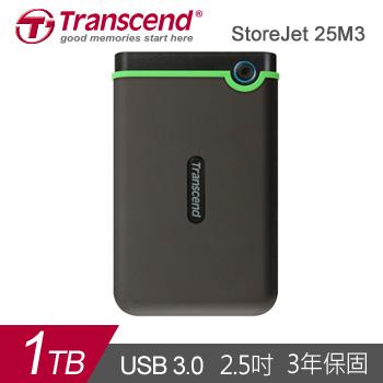 【1TB】創見 StoreJet 25M3 2.5吋 行動硬碟(TS1TSJ25M3)