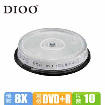 DIOO 8X DVD+R DL 8.5G 10片桶裝(D-MDG024)