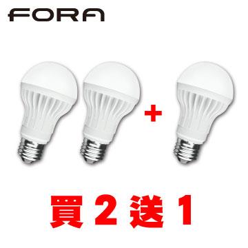 FORA 10W LED節能燈泡(黃光)買二送一組合包()