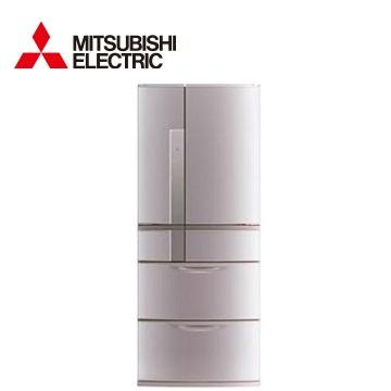 MITSUBISHI 635公升瞬冷凍1級節能六門冰箱(粉鑽銀)(MR-JX64W-N)