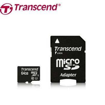 【64G / U1】創見 MicroSD記憶卡-附轉卡(TS64GUSDU1)