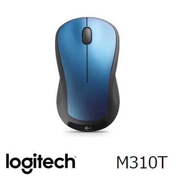 羅技 無線滑鼠 M310t-藍(910-003991)