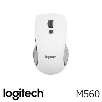 羅技 Logitech 無線滑鼠 M560 - 白