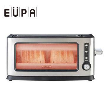 【福利品】EUPA 透明鏡面烤麵包機(TSK-P102)