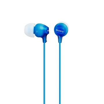 SONY MDR-EX15LP入耳式耳機(藍)