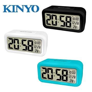 KINYO 簡約光控聰明鐘(TD-331)