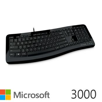 微軟 Microsoft 舒適曲線鍵盤 3000(3TJ-00018)