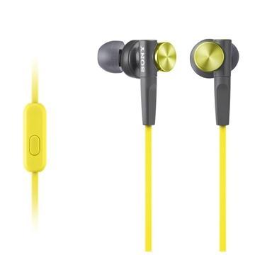 SONY MDR-XB50AP入耳式立體聲耳機-黃(MDRXB50AP/YQE)